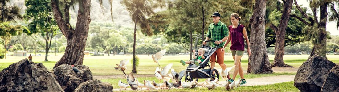 Multisportieve kinderwagens en fietstrailers